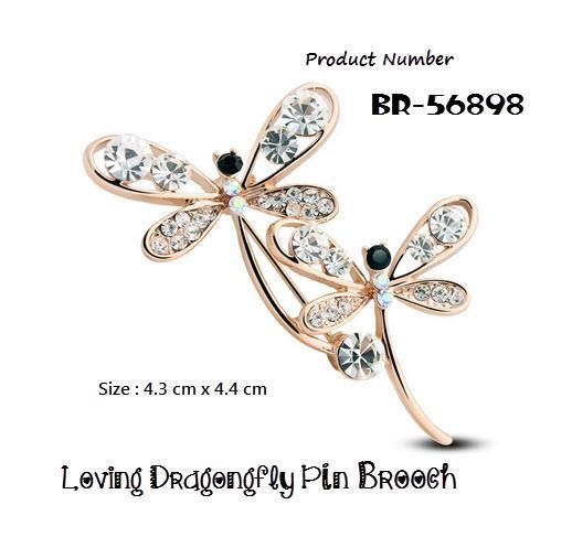 Swarovski Elements Crystals - Crystal Loving Dragonfly Pin Brooch