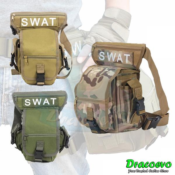 abf4e6347010 SWAT Multifunction Waist Leg Outdoor Sports Hiking Waterproof Bag