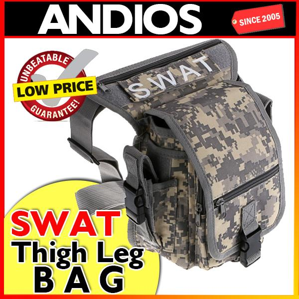 SWAT Utility Leg Outdoor Sport Waterproof Thigh Bag Beg Paha Kaki