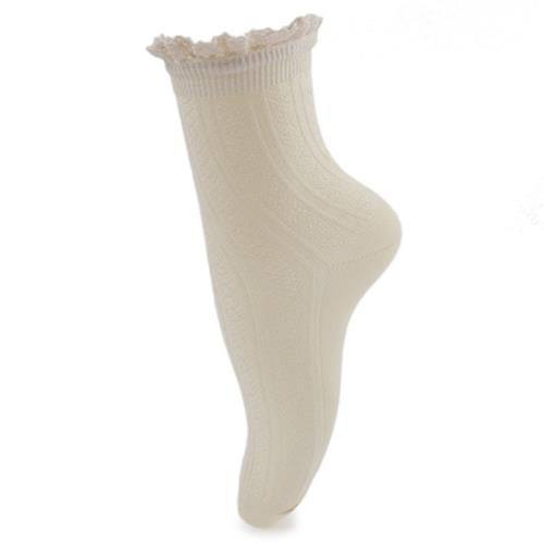 SWEET AUTUMN WINTER LACE DECORATION LADIES HEAP HEAP SOCKS (OFF-WHITE)