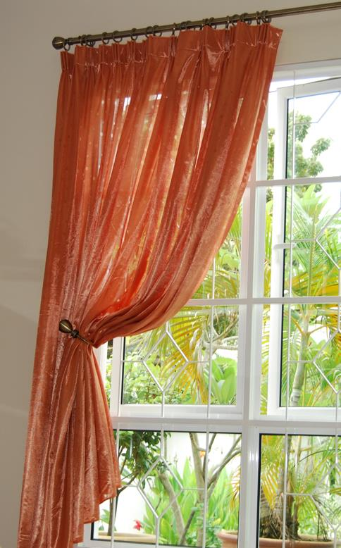 Sweet ER Orange Lace Curtains 8 Ft FP
