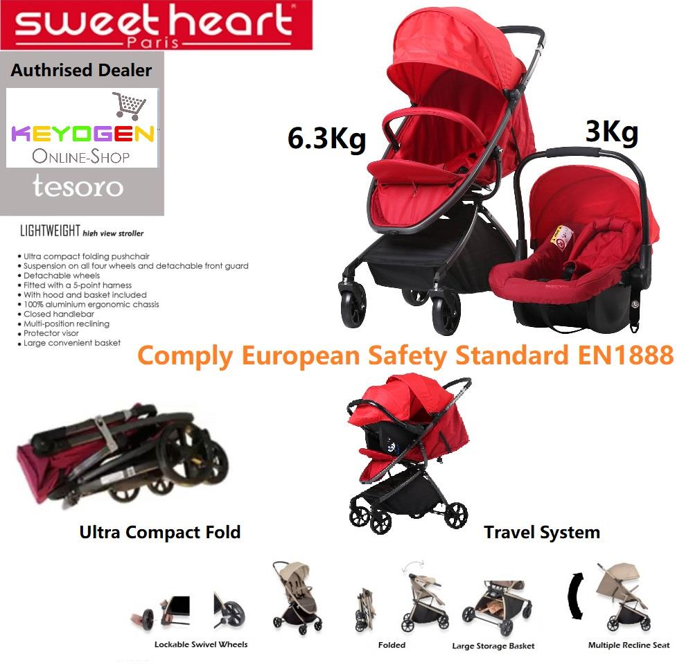 Sweet Heart Paris Baby Stroller And Car Seat Combo