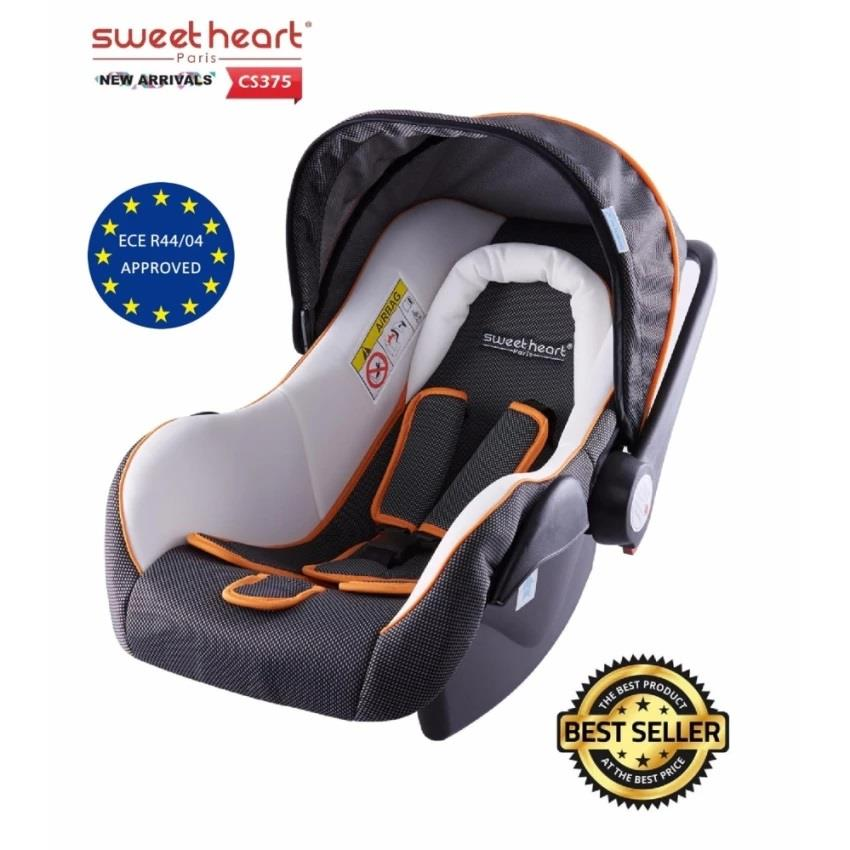 Sweet Heart Paris CS375 Baby Car Seat (White Grey) Sun Shade Canopy