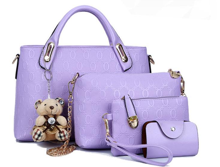Sweety Korean Leather 4 In 1 Bags Women Fashion Handbags