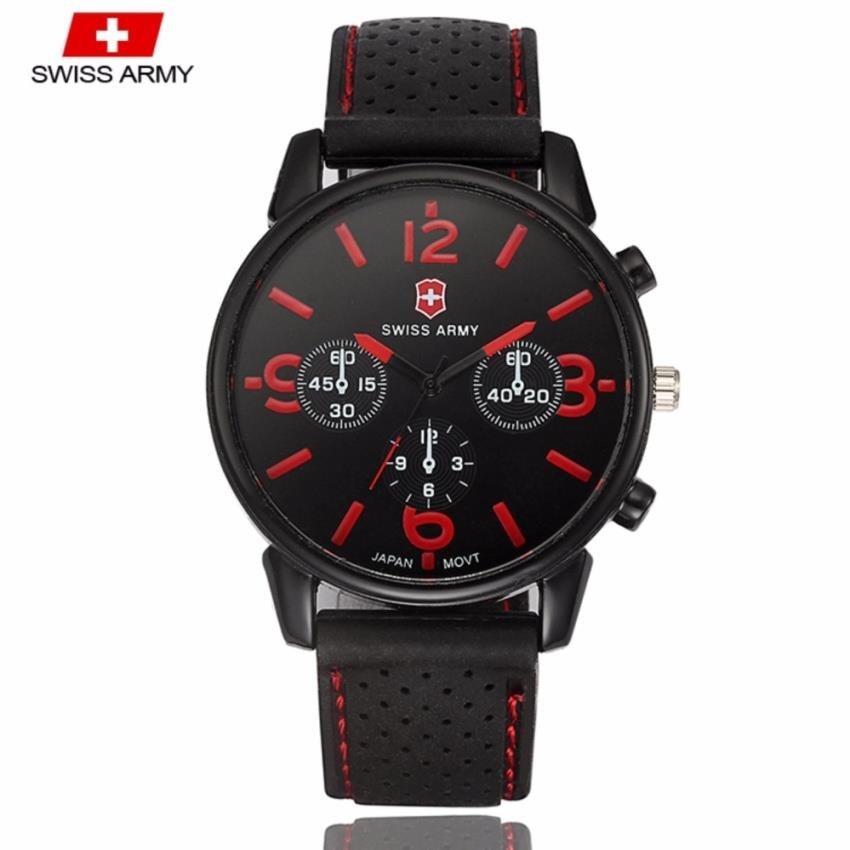Swiss Army 1102 Military Men's Silicone Strap 3 Dial Sport Watch