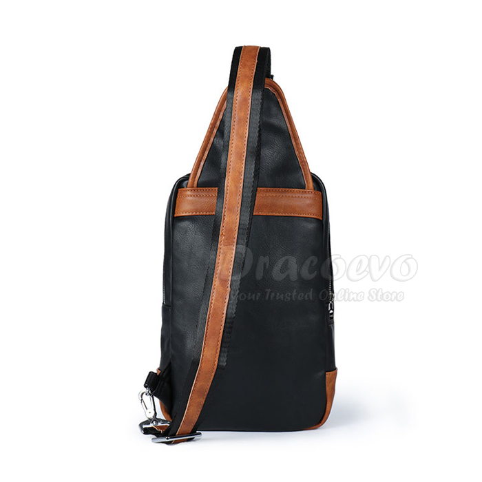 Swiss Gear PU Leather Cross Body Sling Shoulder Chest Bag SA-5603