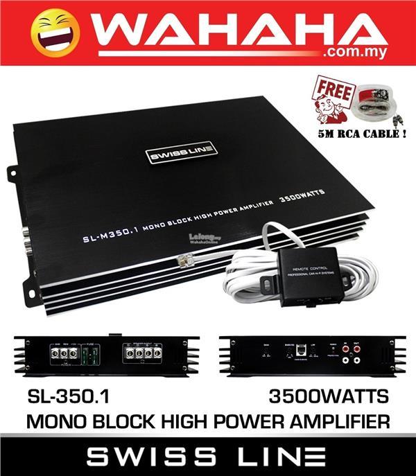 SWISS LINE SL-M350 1 Mono Block Car Audio Amplifier High Power 3500W