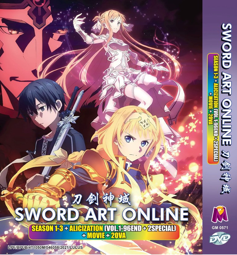 Sword Art Online Season 1-3 + Alicization + 2 Special + Movie + 2 OVA