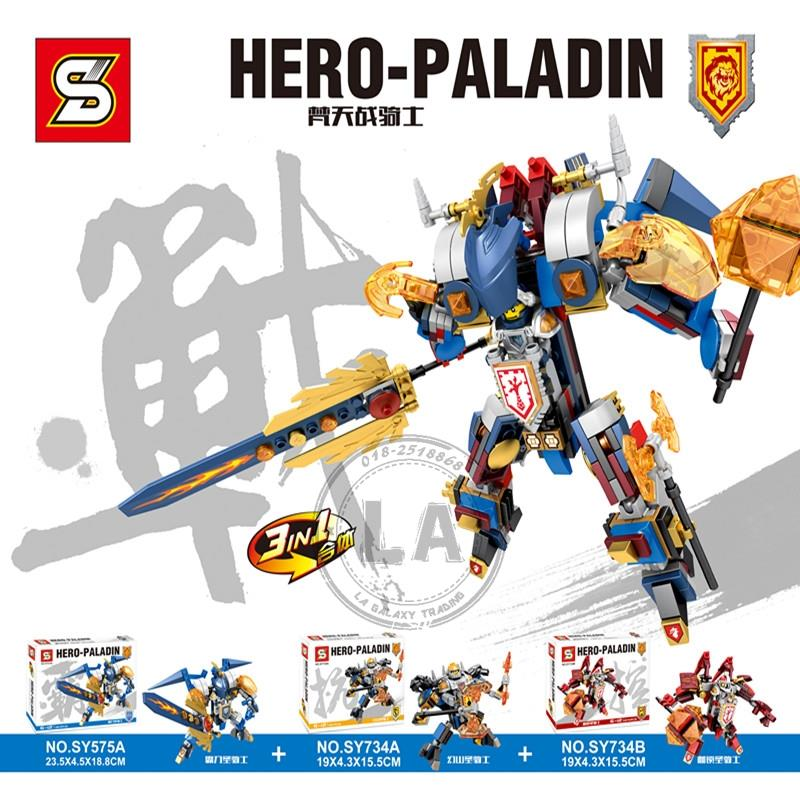 SY575 SY734 Hero Paladin 3 in 1 mech DIY building blocks