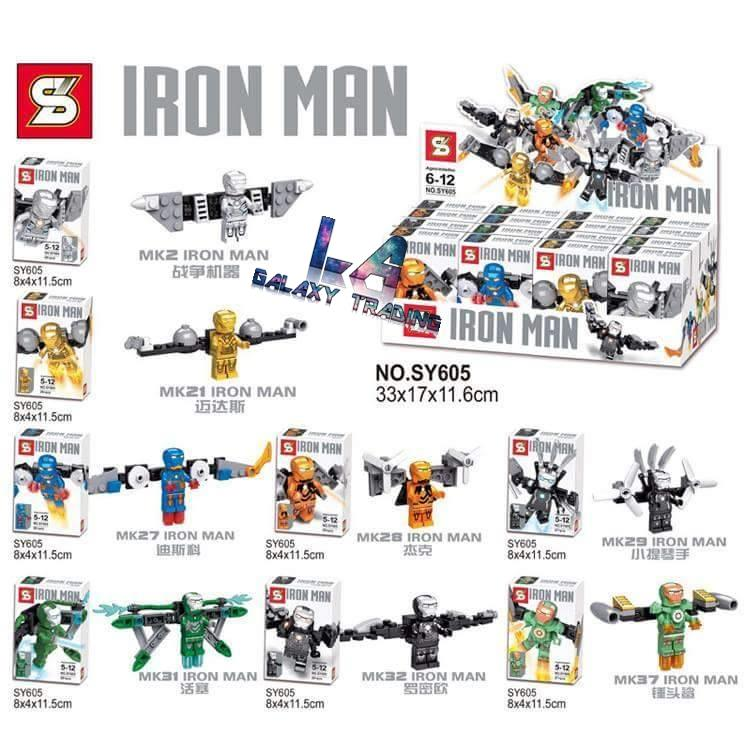 SY605 Avengers Iron Man Mini Figures Flying Series