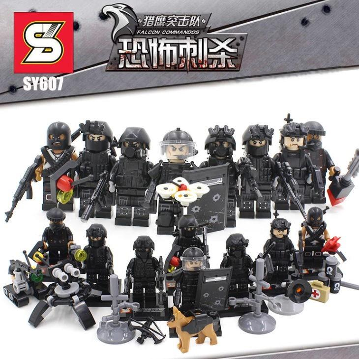SY607 SWAT Military Falcon Kommandos Team 8 in 1