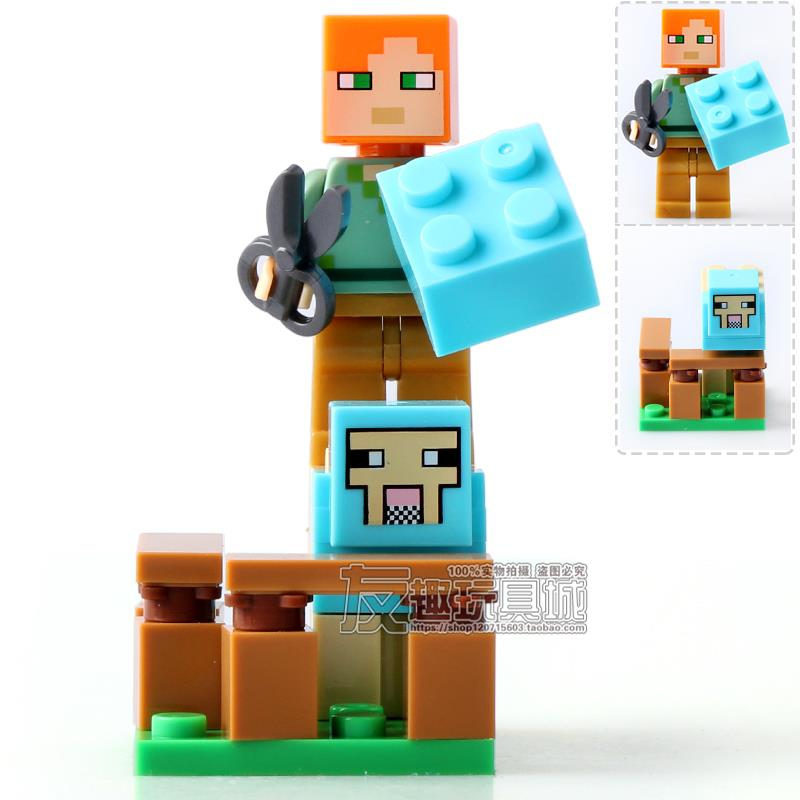 SY629 MineCraft New Series Minifigure 8 in 1 per set