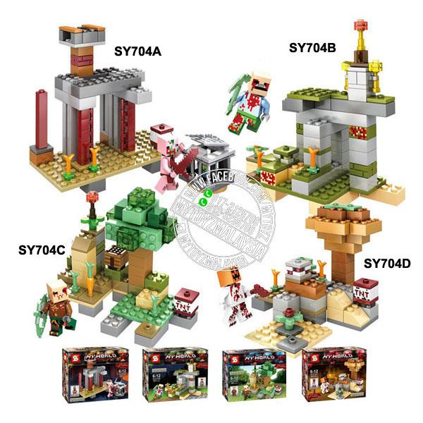 SY704A-SY704D Minecraft Mode Building Blocks