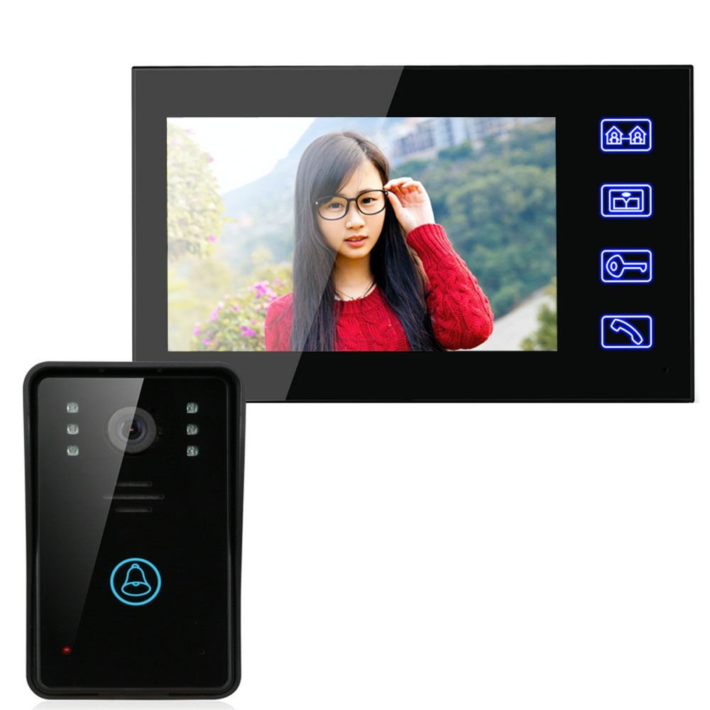 SY816A11 7 INCHES VIDEO DOOR PHONE INTERCOM DOORBELL TOUCH BUTTON REMO..