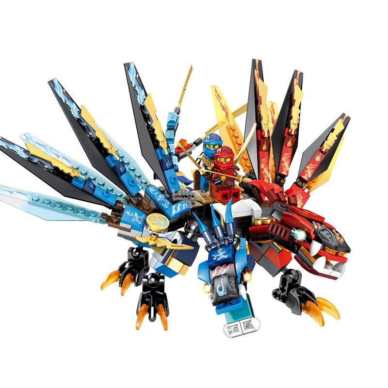 SY850 Ninjago Kai and Nya on the Fusion Dragon