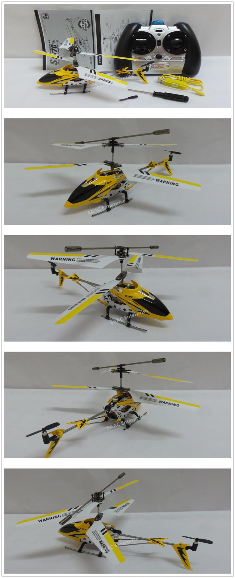 Syma S107G RC Indoor Helicopter 3CH with Gyro Drone Yellow