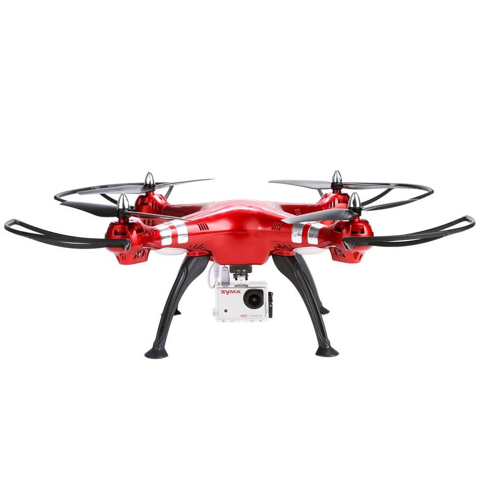 Syma X8HG With HD Camera High Hold Mode 2.4G 4CH 6AxisRCQuadcopter RED