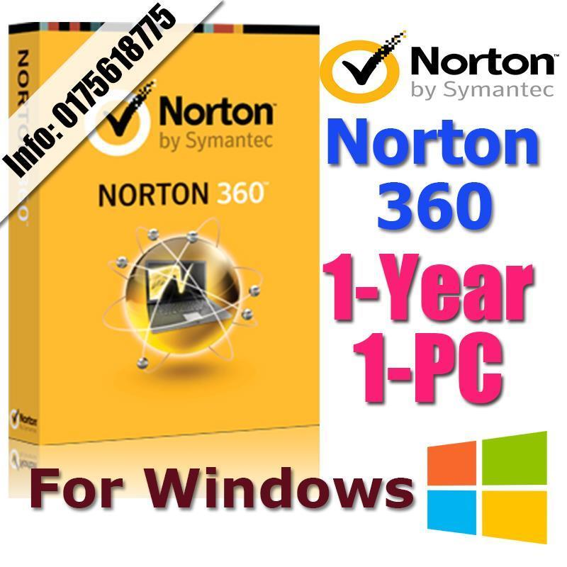Symantec NORTON 360 1YEAR1PC anti virus antivirus windows
