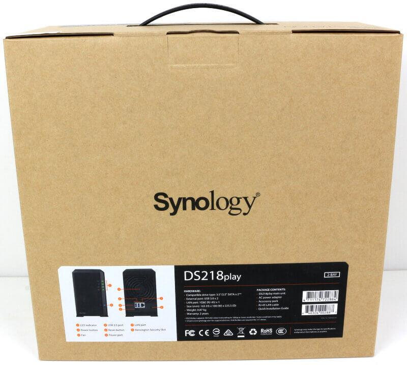 Synology DS218Play DISKSTATION 2-BAY NAS ENCLOSURE ds218 play