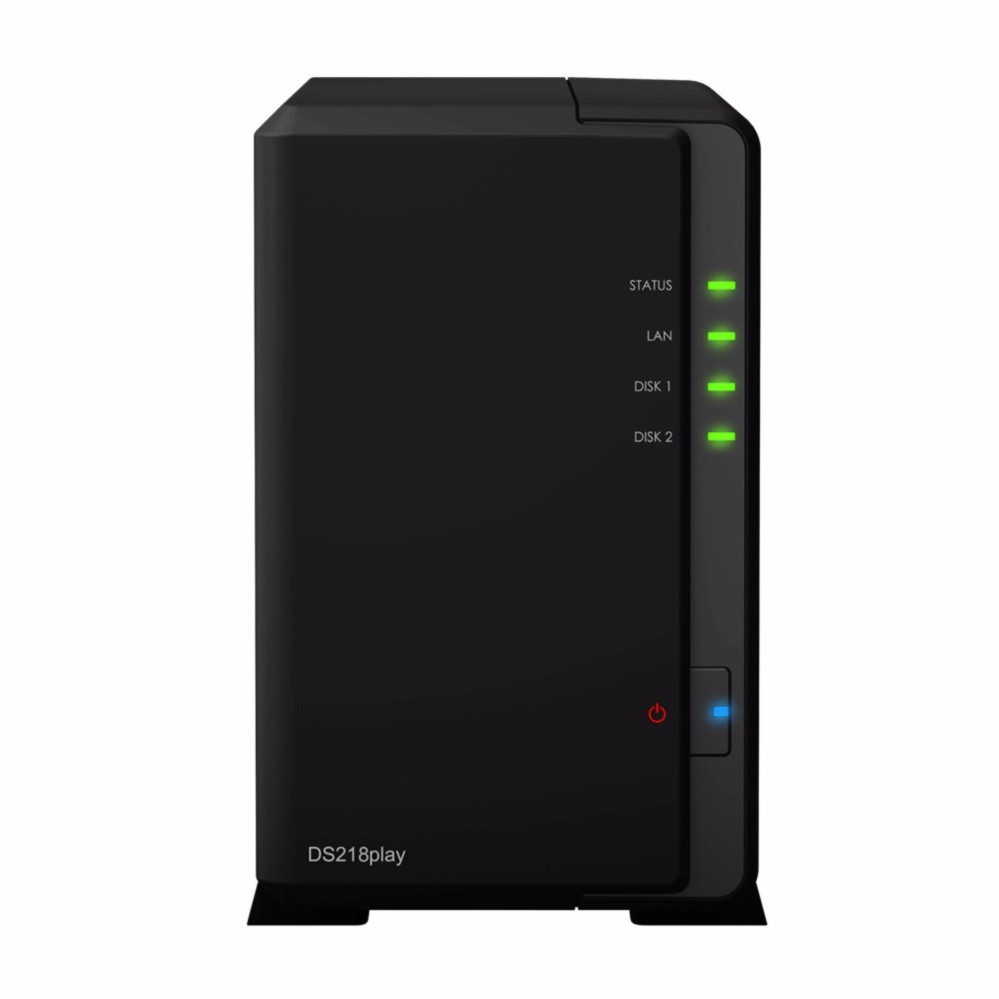 Synology DS218play NAS DiskStation 2-Bays with Seagate Ironwolf 2 x2TB