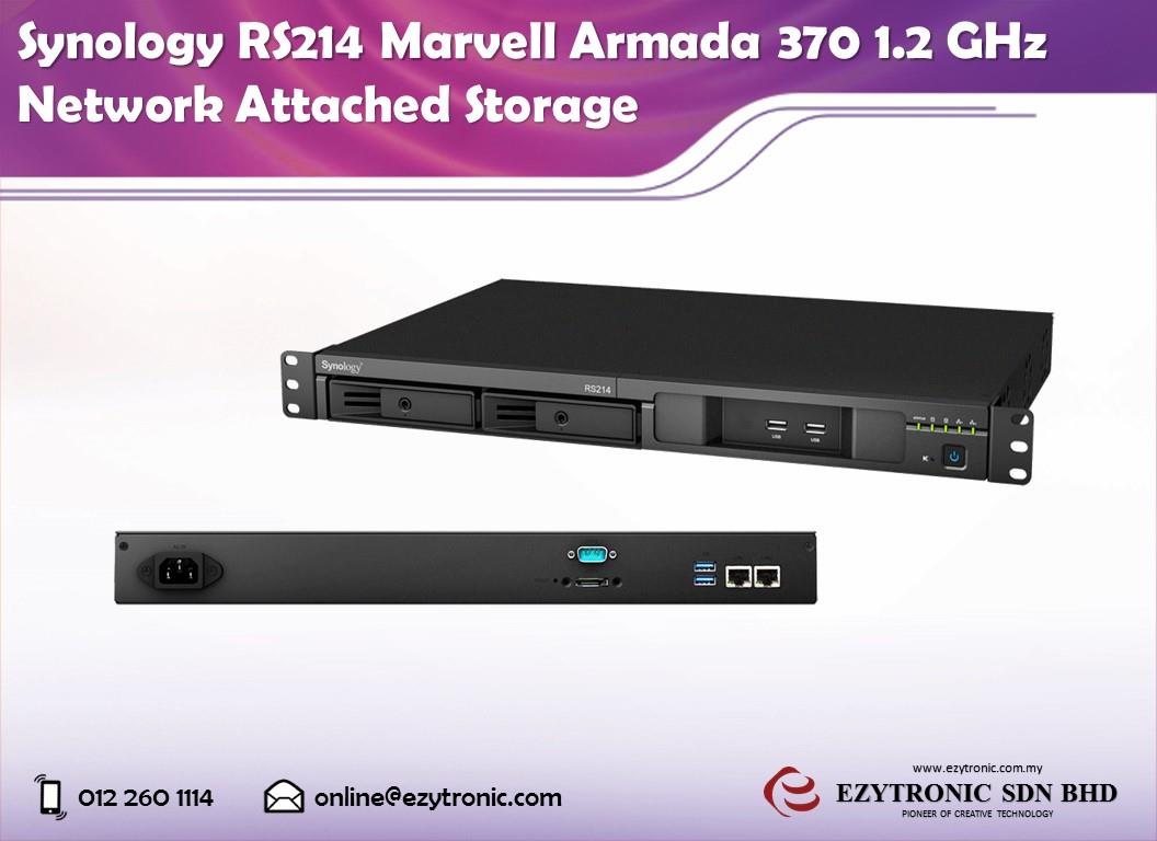 Synology RS214 Marvell Armada 370 1 2 GHz Network Attached Storage