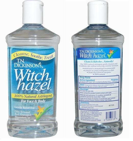 T.N. Dickinson, Witch Hazel, For Face & Body, 100% Natural (473 ml)