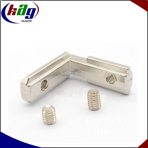 T Slot L Shape Type For Aluminium Profile 2020 Series (with screws)