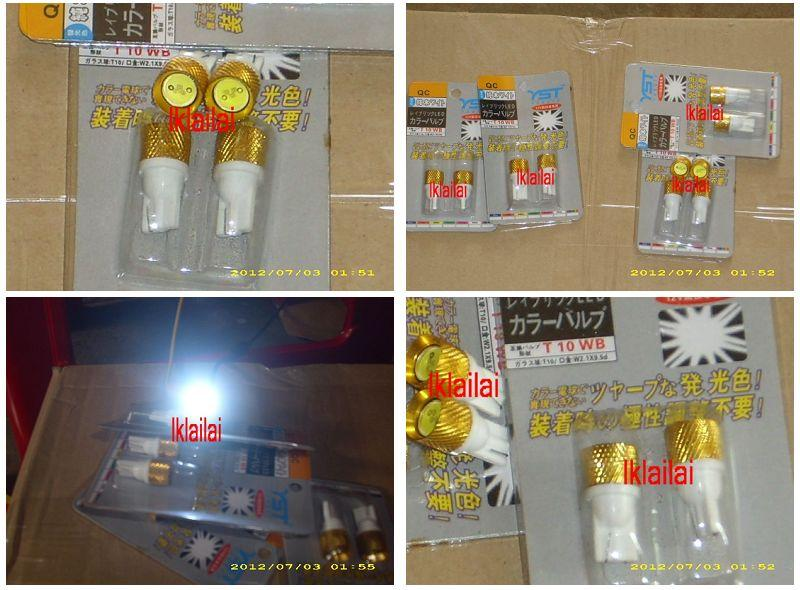 T10 High Power LED Bulb 0.5W [White LED] per pair