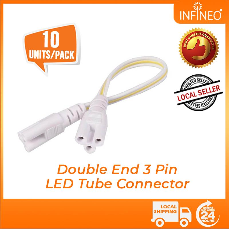 T4 T5 T8 LED Tube Connecting Connector Cable Female Plug 3 Pin