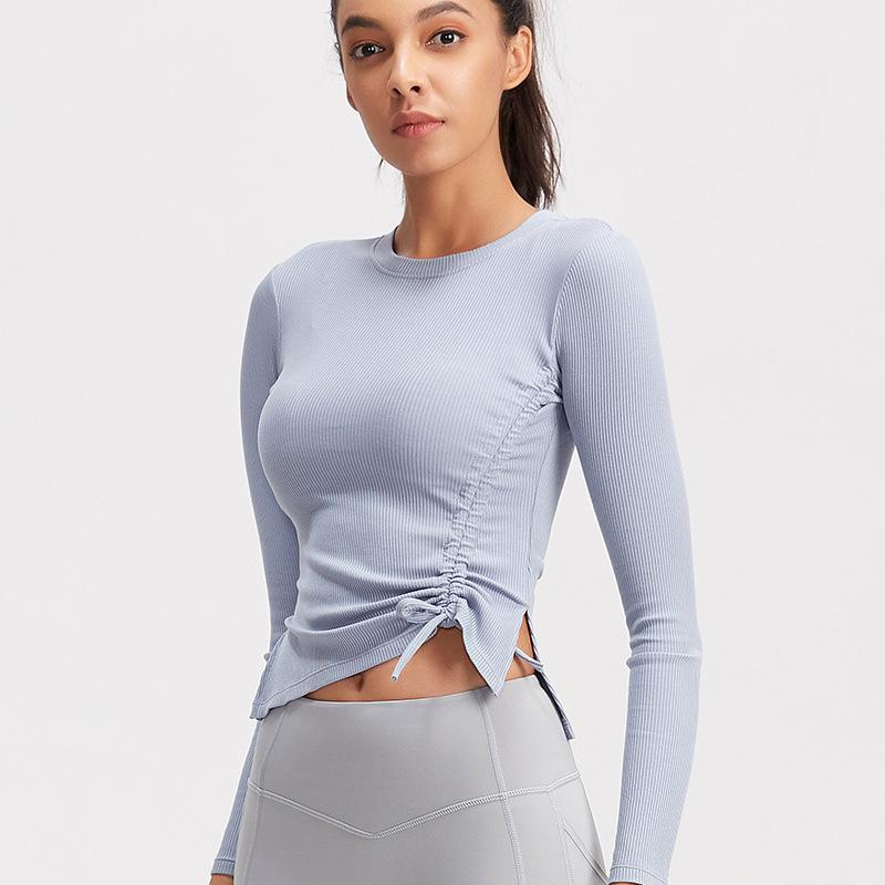 [T435] Casual Long Sleeved Yoga Top