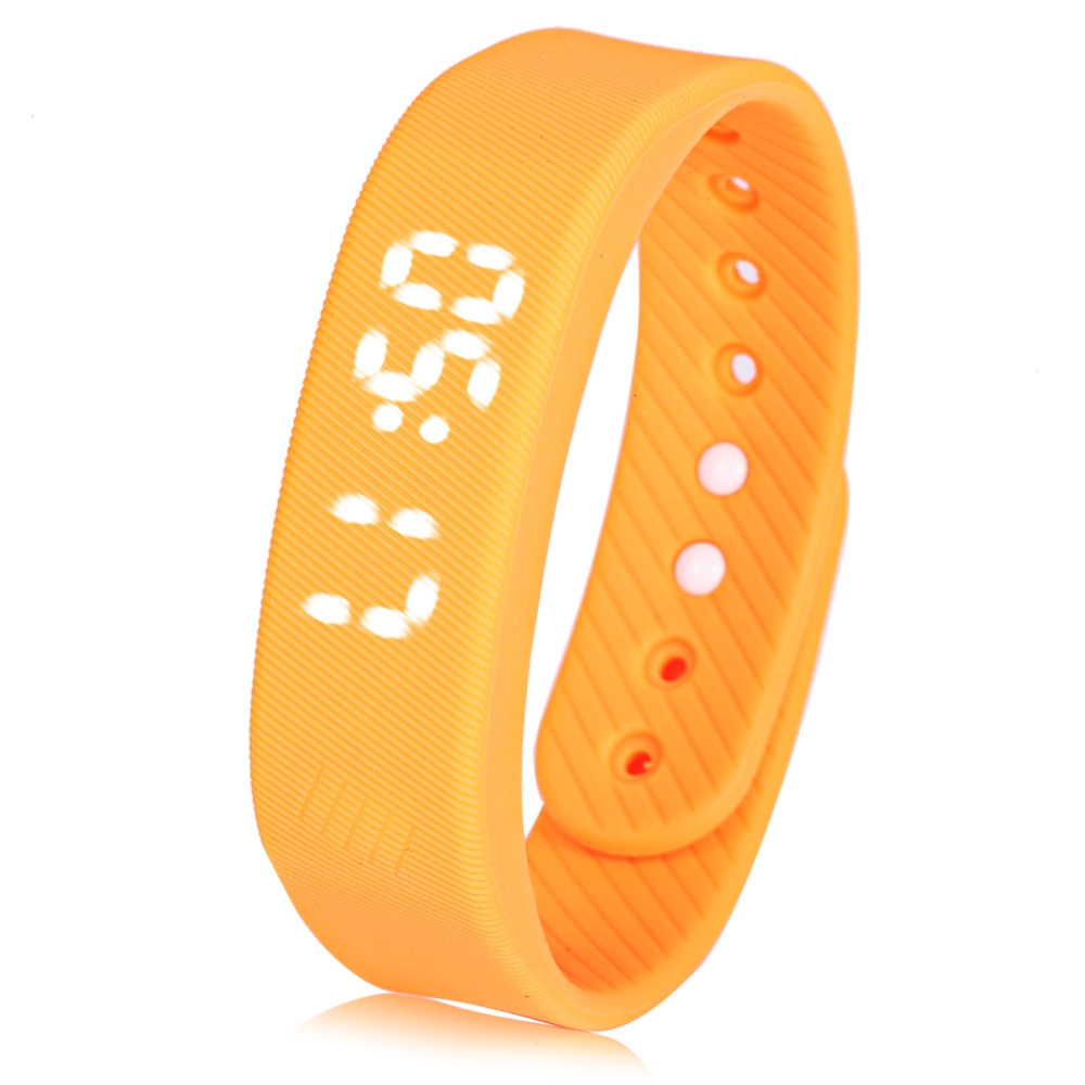 T5 Sports Smart Wristband Calorie Tracker Pedometer Distance Record Bracelet W