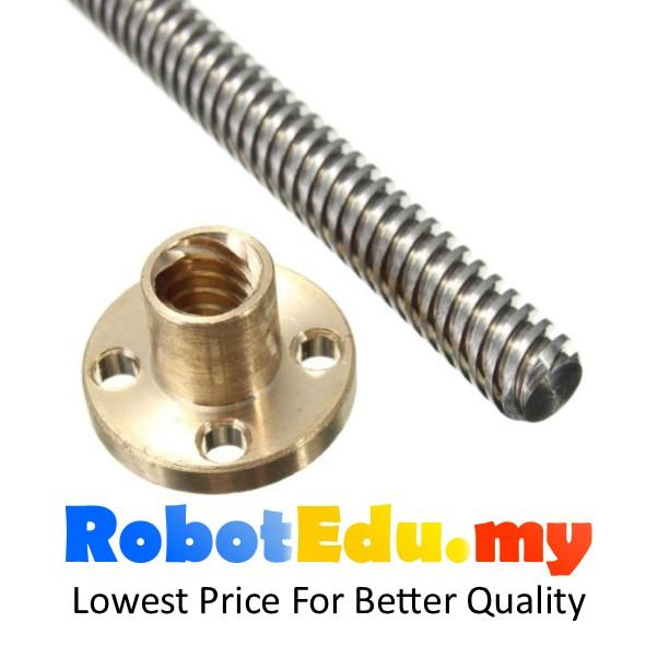 T8 ACME Lead Screw 8mm Thread 1mm Pitch Lead Screw with, Copper Nut