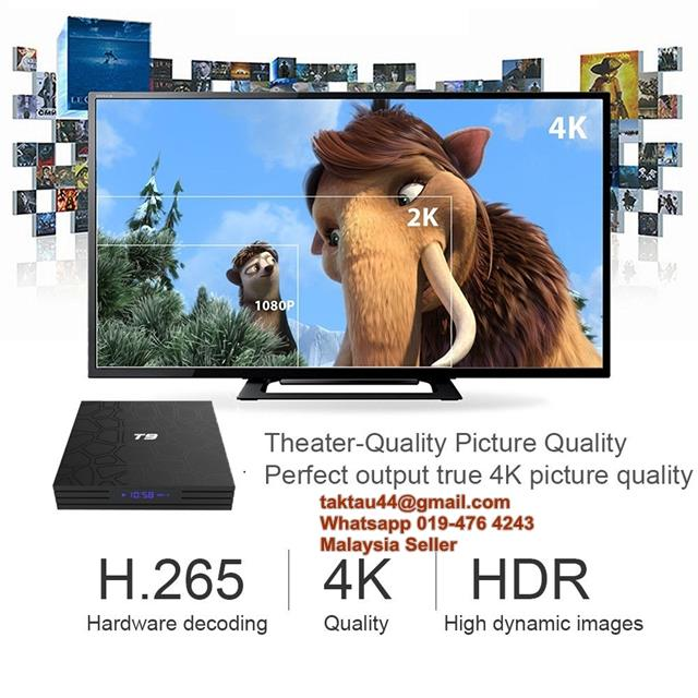 T9 Android 8 1 Smart TV Box Rockchip Quad Core RK3328 4GB Ram 32GB 4K
