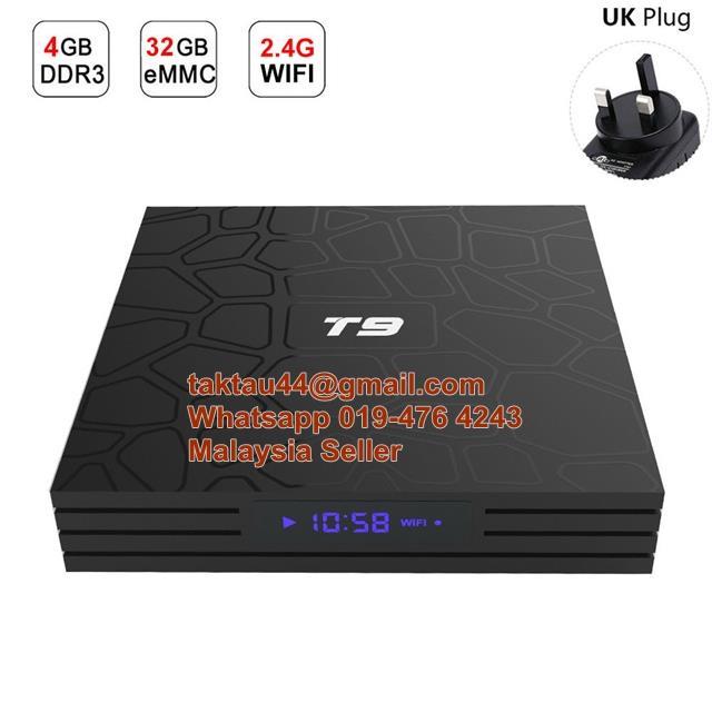 T9 Android 8 1 Smart TV Box Rockchip Quad Core RK3328 4GB Ram 32GB 4K