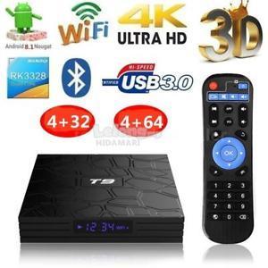 T9 TV BOX 4+64GB ( 5G WIFI + BLUETOOTH)