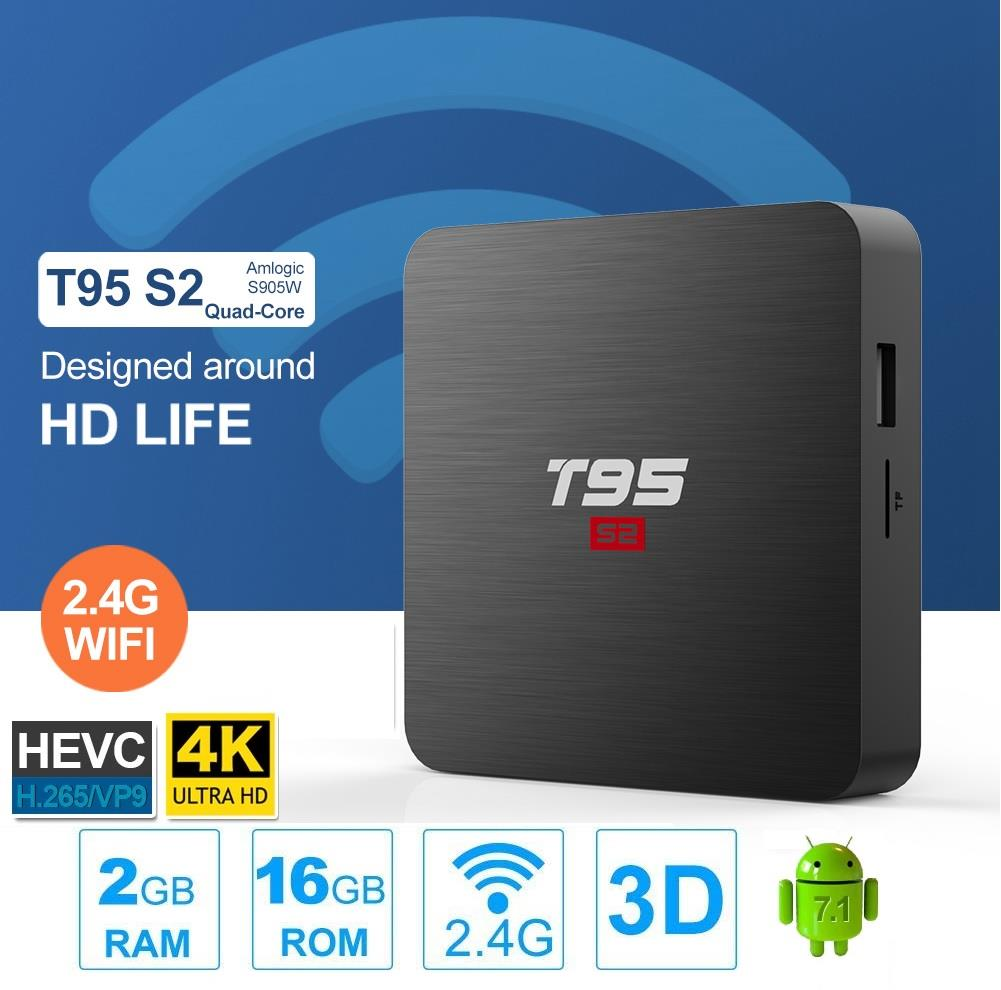 T95 S2 Amlogic S905W 2GB+16GB Android TV BOX / IPTV / 4K