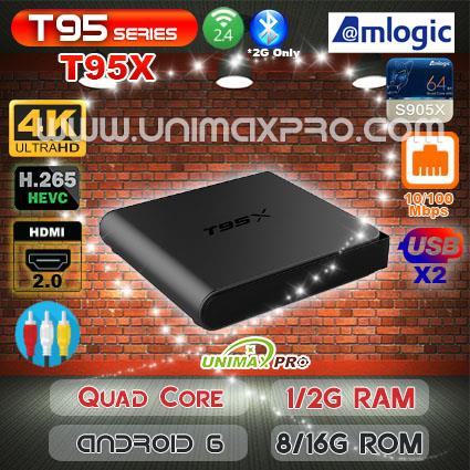 T95X S905X Quad Core Android 6 1GB 2GB RAM 8GB 16GB ROM TV Box IPTV