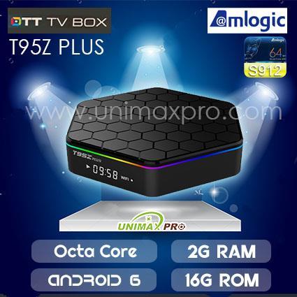 T95Z PLUS TV BOX S912 Octa Core 2GB Ram 16GB Rom Android 7