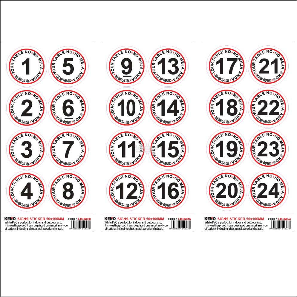 Table number sticker with matte lamin end 8 6 2019 515 pm
