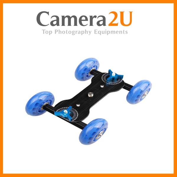 Table Top Dolly Skater Wheel Shooting Car for DSLR Video Camera