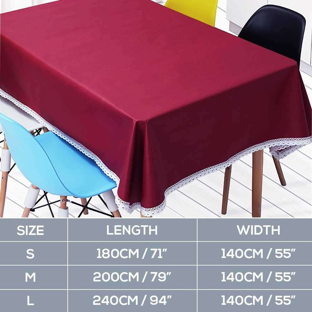 Tablecloths Rectangular 55 x 94 inch Table Covers Dust-Proof Polyester