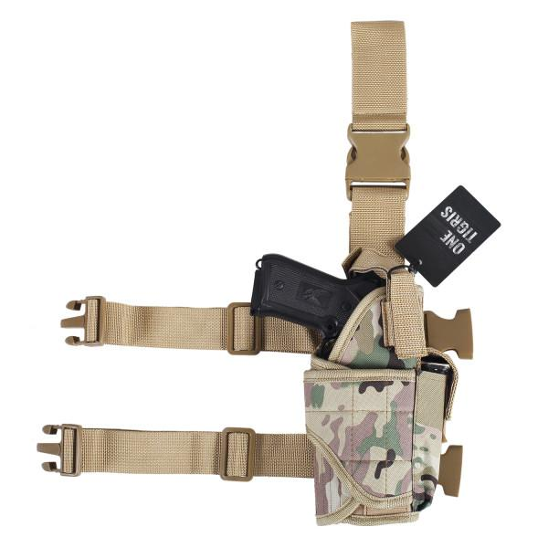 TACTICAL MILITARY NYLON DROP LEG HOLSTER MC
