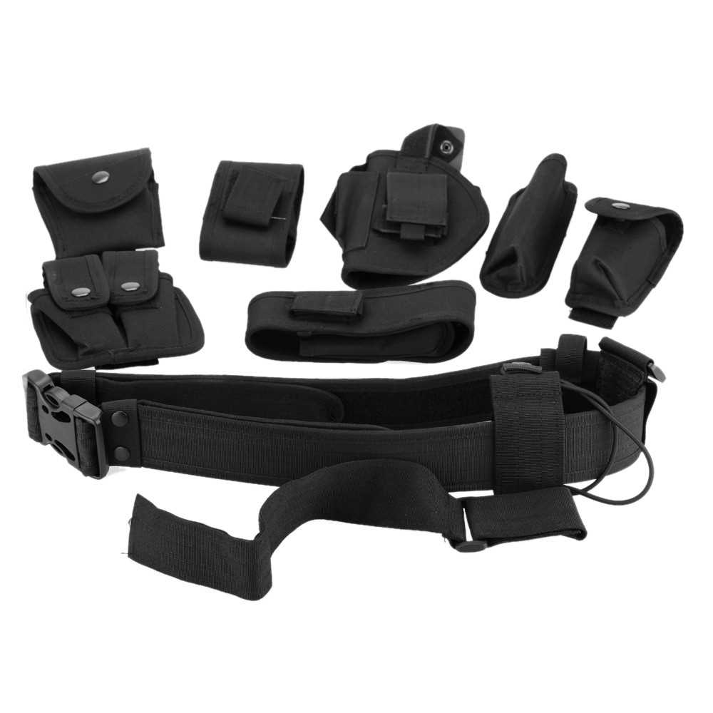 Tactical Police Security Guard Equipment Duty Utility Kit Belt with Pouches  Sy