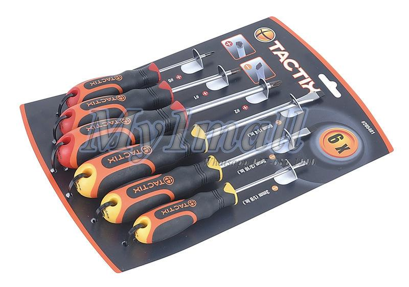 TACTIX 205401 SCREWDRIVER SET 6PC