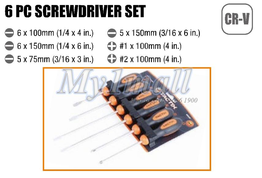 TACTIX 205439 6PC BASIC SCREWDRIVER SET