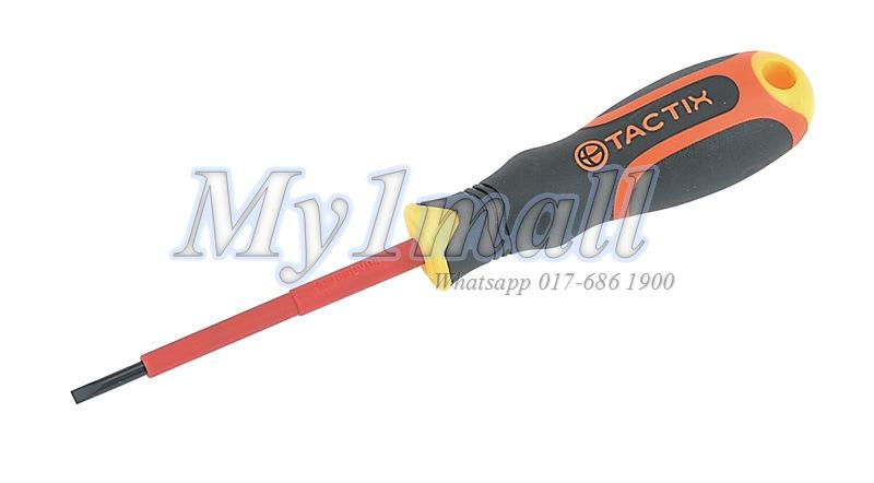 TACTIX 205502 SCREWDRIVER INSULATED SLOT 3.0 X 100MM