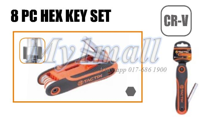 TACTIX 206203 KEY HEX 8PC SET - SAE