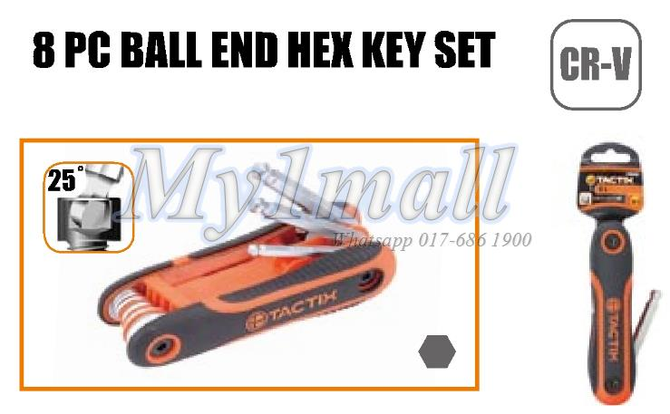 TACTIX 206205 8PC BALL PEIN SET-METRIC