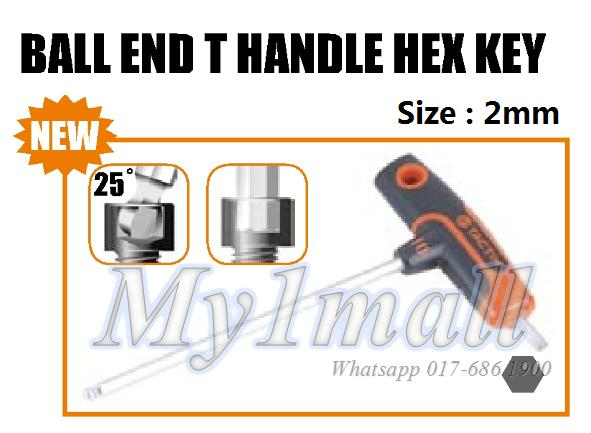 TACTIX 206301 T HANDLE BALL END HEX KEY 2MM
