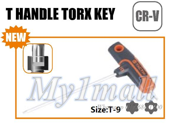 TACTIX 206377 T HANDLE TORX KEY T-9